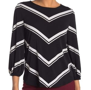 Adriana Papell Crepe Blouse